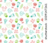 cactus seamless pattern with... | Shutterstock .eps vector #1039147261