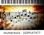 illustration of musical notes... | Shutterstock . vector #1039147477
