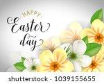 happy easter day lettering.... | Shutterstock .eps vector #1039155655