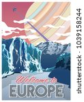 welcome to europe. old space...   Shutterstock .eps vector #1039158244