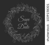 handdrawn wreath made in vector....   Shutterstock .eps vector #1039158301