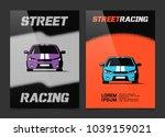 brochure design with street...   Shutterstock .eps vector #1039159021