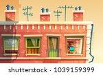 vector illustration of facade... | Shutterstock .eps vector #1039159399