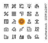 construction  tools line icons... | Shutterstock .eps vector #1039162897