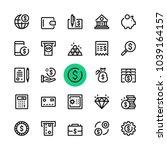 money  banking line icons set.... | Shutterstock .eps vector #1039164157