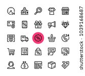 Stock vector e commerce online shopping ecommerce line icons set modern graphic design concepts simple 1039168687