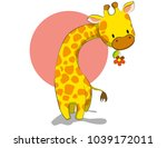 cute vector giraffe for print | Shutterstock .eps vector #1039172011