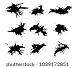 collection black dirty design... | Shutterstock .eps vector #1039172851