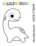 cute dino coloring book.  | Shutterstock .eps vector #1039173049