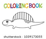 cute dino coloring book.  | Shutterstock .eps vector #1039173055
