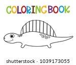 cute dino coloring book.  | Shutterstock .eps vector #1039173055