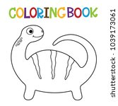 cute dino coloring book.  | Shutterstock .eps vector #1039173061