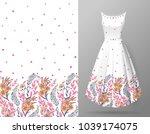 cute pattern in small flowers... | Shutterstock .eps vector #1039174075
