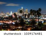 beautiful night of los angeles... | Shutterstock . vector #1039176481