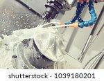milling metalworking process.... | Shutterstock . vector #1039180201