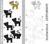 jaguar to find the correct... | Shutterstock .eps vector #1039180645
