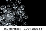 3d molecules or atoms on black... | Shutterstock . vector #1039180855