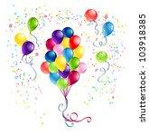 bunch of  festive balloons | Shutterstock .eps vector #103918385