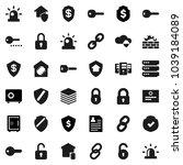 flat vector icon set  ...   Shutterstock .eps vector #1039184089