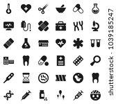 flat vector icon set   flask... | Shutterstock .eps vector #1039185247