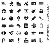 flat vector icon set   welcome... | Shutterstock .eps vector #1039185274