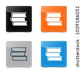 web icons of book silhouette.... | Shutterstock .eps vector #1039186051