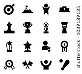 solid vector icon set   target... | Shutterstock .eps vector #1039189135