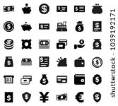 flat vector icon set   dollar... | Shutterstock .eps vector #1039192171