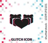 set of gifts and heart  glitch...