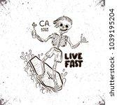 thrash punkrocker surfing on...   Shutterstock . vector #1039195204