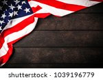 usa flag on wood background   Shutterstock . vector #1039196779