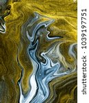 abstract hand painted black and ... | Shutterstock . vector #1039197751