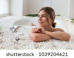 your beauty shines  young... | Shutterstock . vector #1039204621