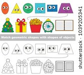 funny shapes set to find the... | Shutterstock .eps vector #1039205341
