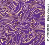 vector violet and gold marble... | Shutterstock .eps vector #1039206139