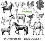 farm cute animal big set.... | Shutterstock .eps vector #1039206664