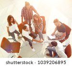 view from the top.a handshake... | Shutterstock . vector #1039206895