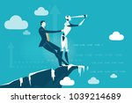 businessman pulling out the... | Shutterstock .eps vector #1039214689