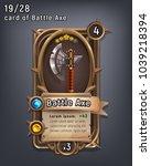 card of fantasy battle axe... | Shutterstock .eps vector #1039218394