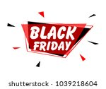 black friday  sign with red... | Shutterstock .eps vector #1039218604