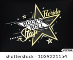 rock'n roll star. t shirt... | Shutterstock .eps vector #1039221154