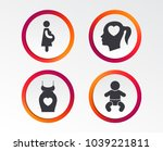 maternity icons. baby infant ... | Shutterstock .eps vector #1039221811