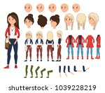 girl character creation set... | Shutterstock .eps vector #1039228219