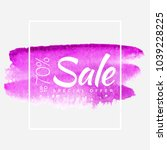 watercolor special offer  super ... | Shutterstock .eps vector #1039228225