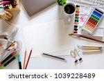 conceptual image of artist...   Shutterstock . vector #1039228489