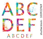 font   colorful letters with... | Shutterstock .eps vector #103922969