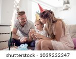 celebration family holidays and ... | Shutterstock . vector #1039232347