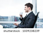 young businessman at the office ... | Shutterstock . vector #1039238239