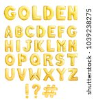 full english alphabet made of... | Shutterstock . vector #1039238275