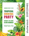 tropical hawaiian party... | Shutterstock .eps vector #1039239481